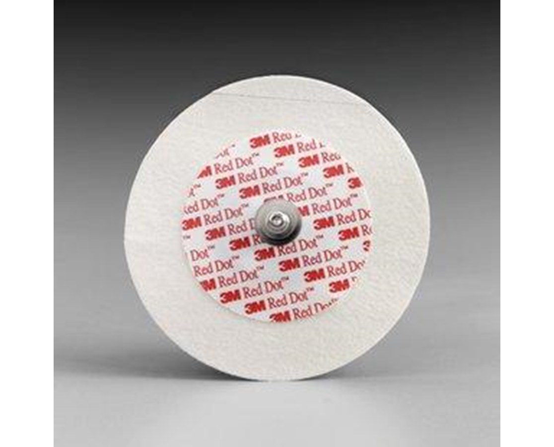 Red Dot™ Monitoring Electrodes with Micropore™ Tape Backing and Abraders, Case MMM2249-50