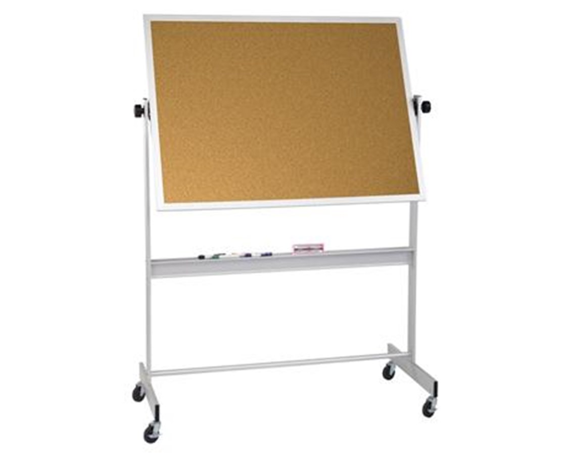 Deluxe Reversible Porcelain / Cork Markerboard MOO668AC-DC