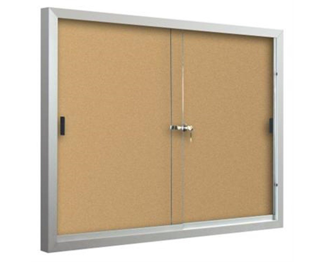 Standard Bulletin Board with Sliding Doors MOO94SAC