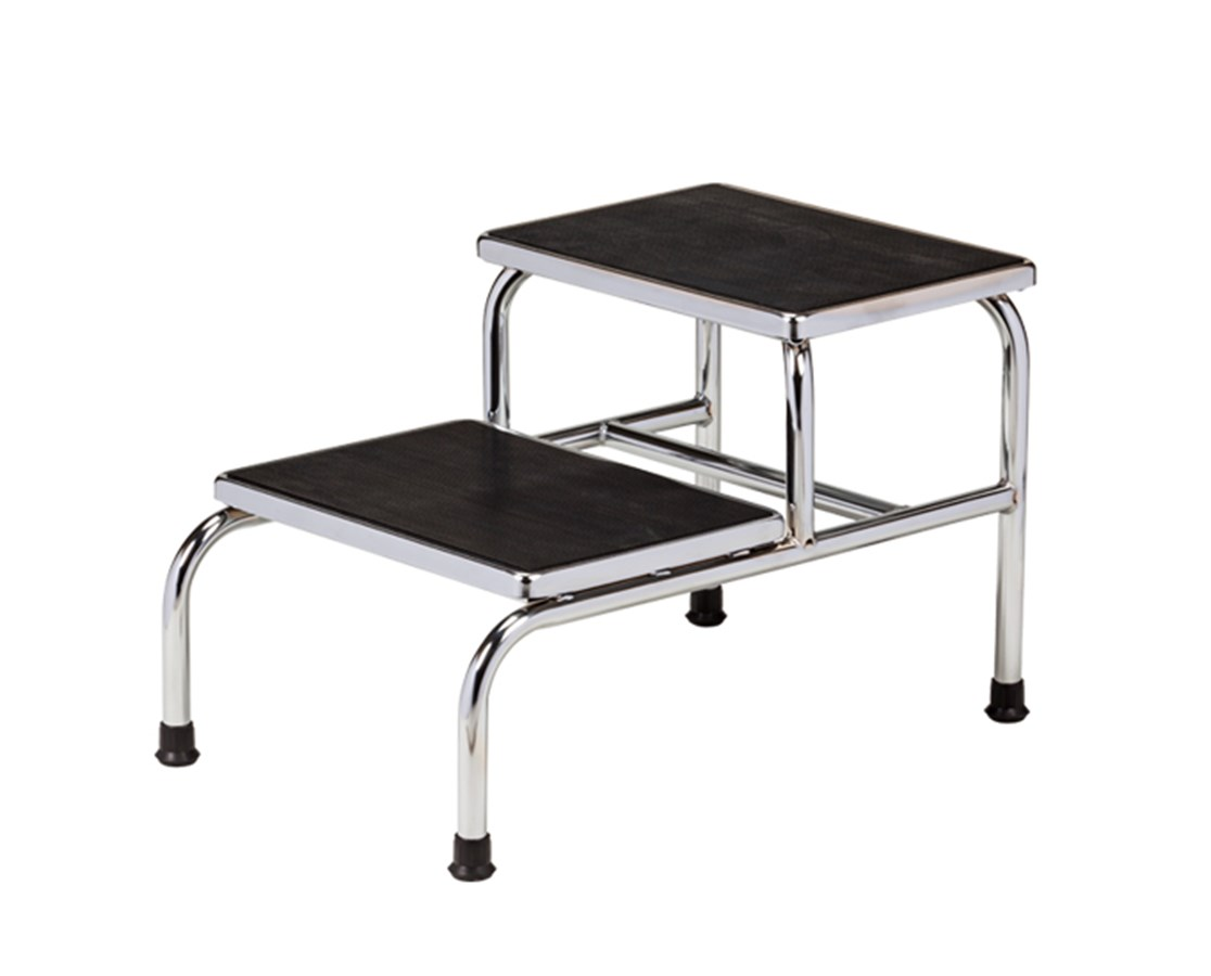 Chrome Two Step Bariatric Stool 6842