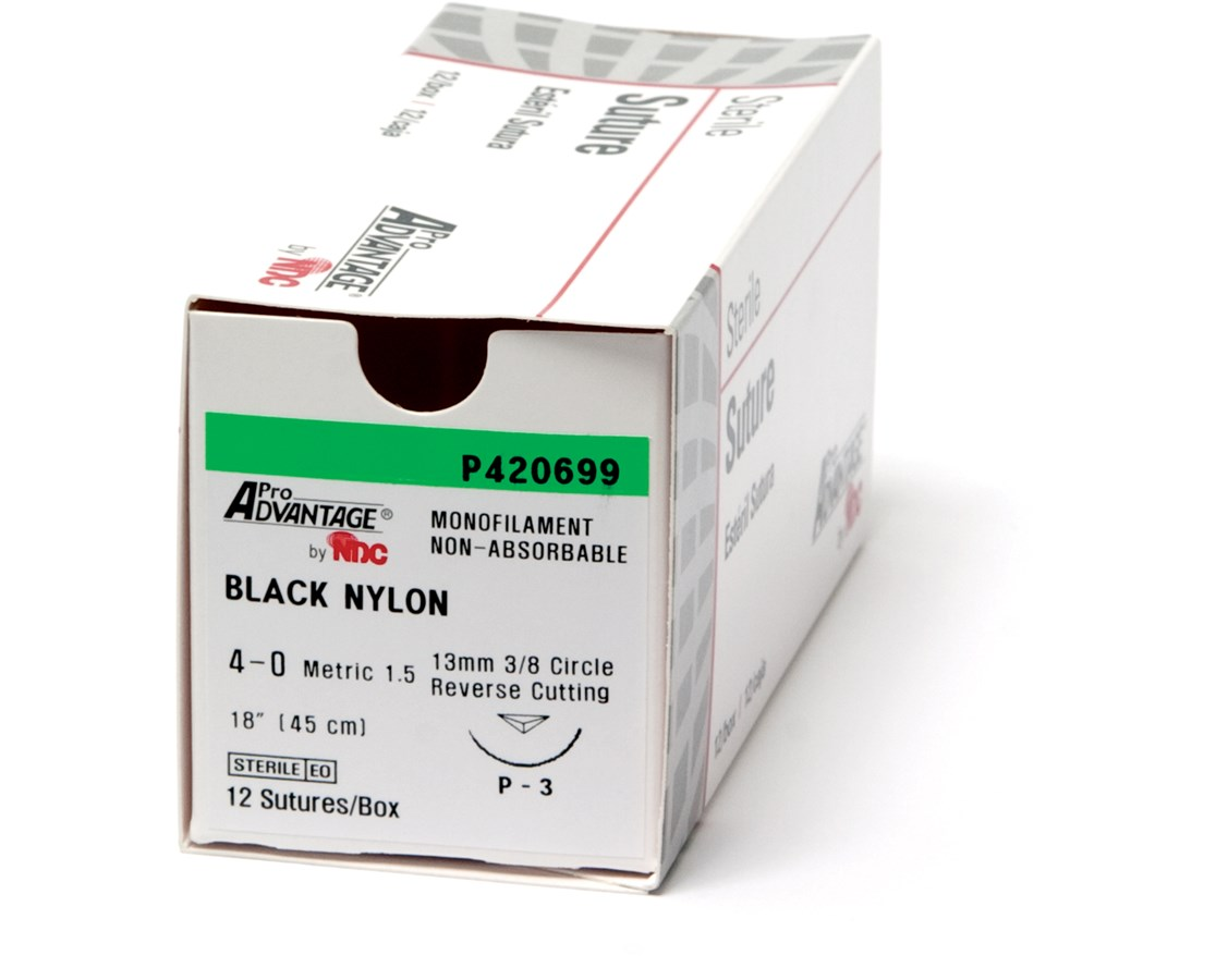 Black Nylon Monofilament Suture NDCP420661-