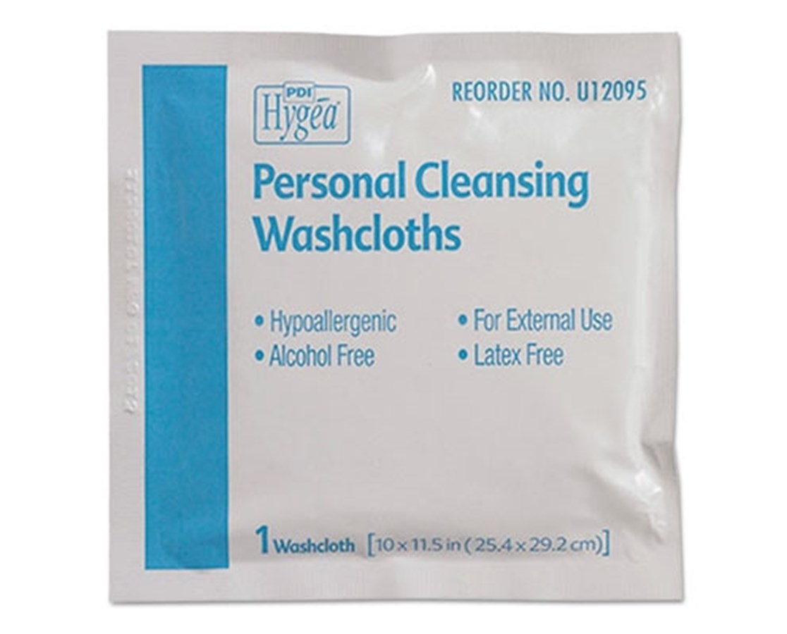 HYGEA® Individually Packed Personal Cleaning Washcloths PDIU12095