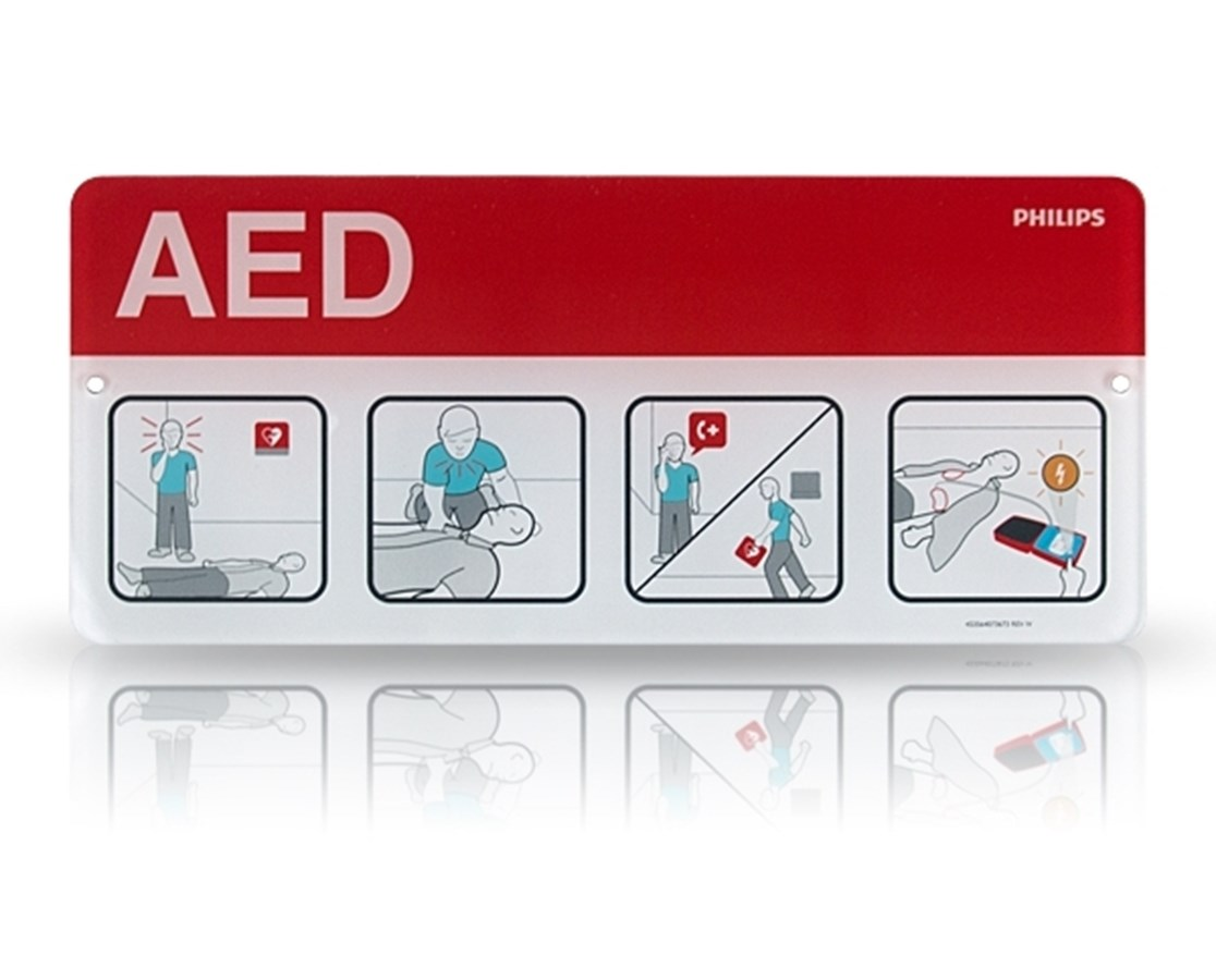 AED Awareness Placard - Red PHI989803170901