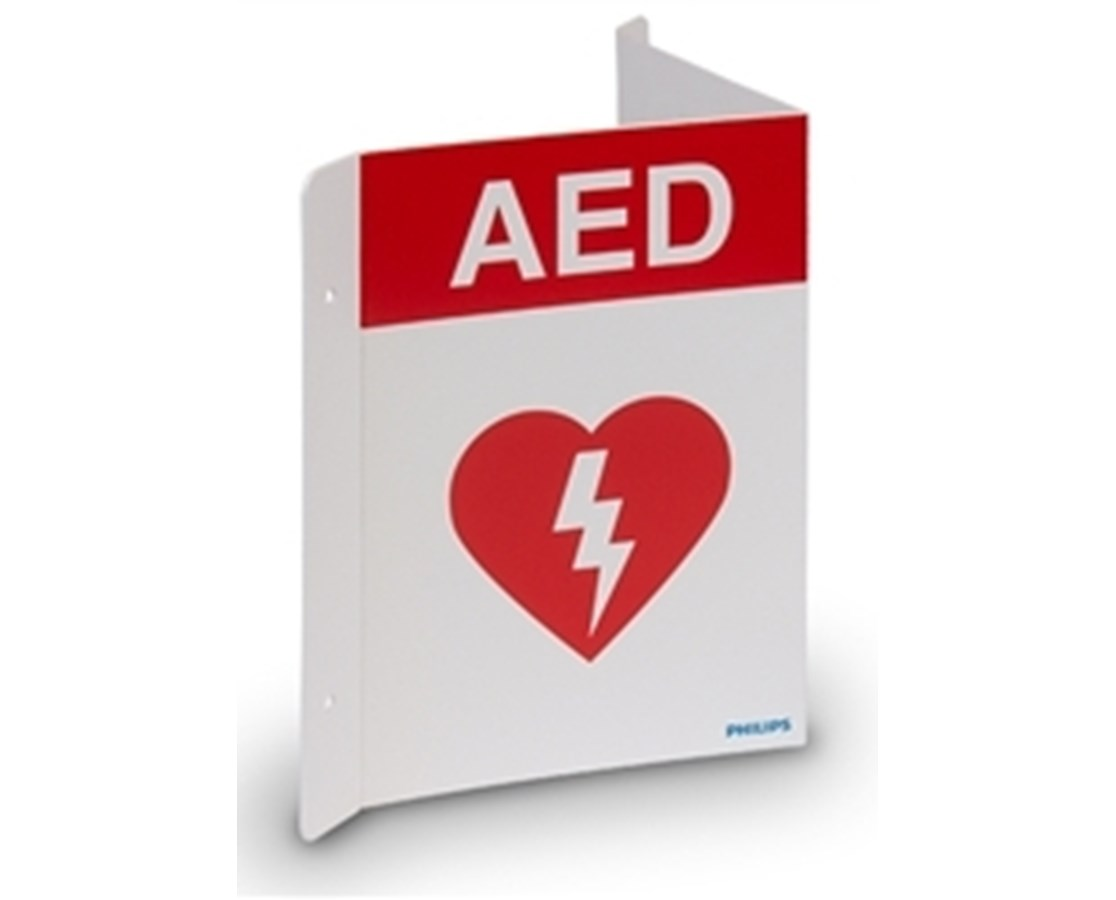 AED Wall Sign - Red PHI989803170921