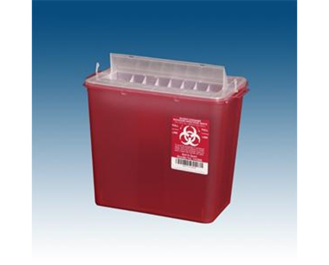 Horizontal Entry of Sharps Containers, 5.4 qt PLA145004