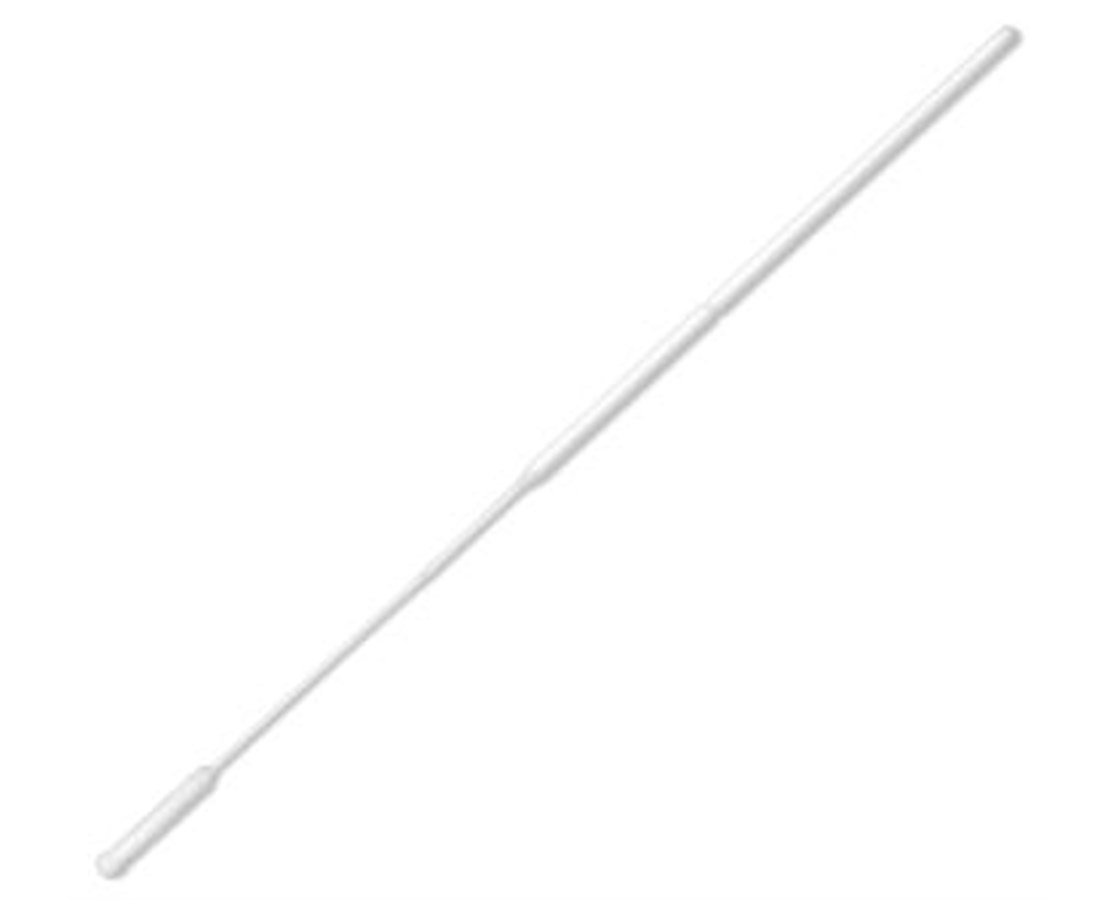 "6"" Non-Sterile Ultrafine Tip Nylon HydraFlock Swab with Polystyrene Handle & Molded Break Point PUR3317-H"