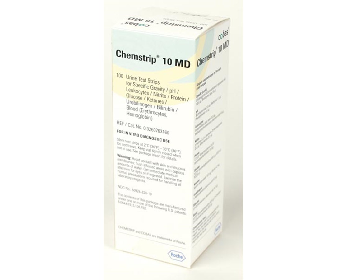 Chemstrip® Urinalysis - 10 MD Urine Test Strips ROC3260763160