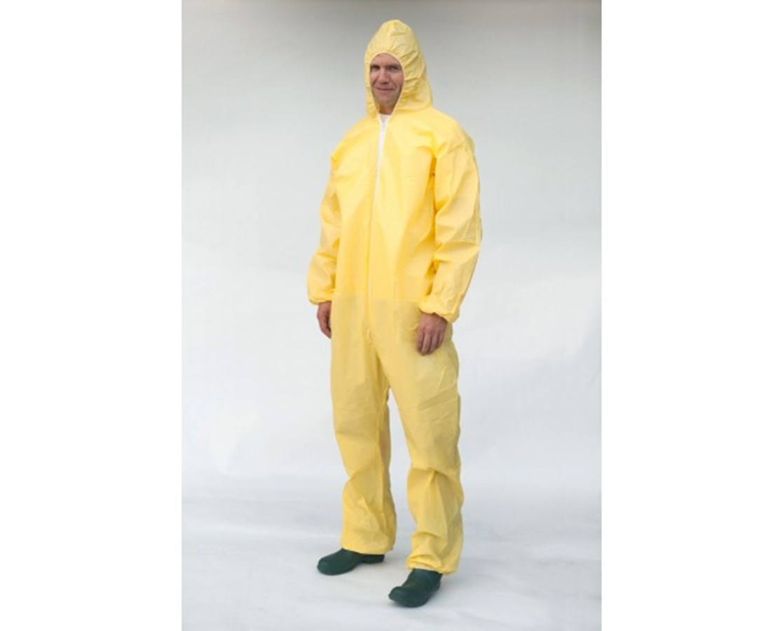 Yellow SunShield 100 Coverall with Bound Seams and Attached Hood SNTS5428B