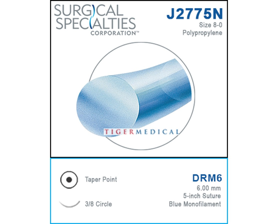 Polypropylene Taper Point Suture, 3/8 Circle - 12 per Box SSPJ2775N