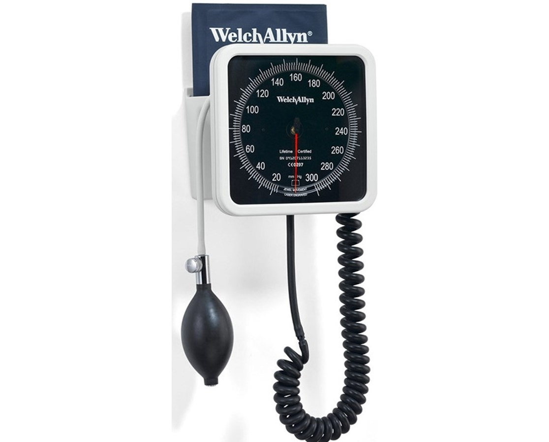 Wall Aneroid with Reusable One-Piece Adult Cuff WEL7670-01