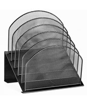 Mesh 5 Slot Desktop Incline Organizer ADI634-01-BLK-