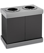 2 or 3 Bin Recycling Center, 28 Gallons ALP471-02-BLK-