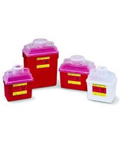 Multi-Use Nestable Sharps Collector with Open Clear Top BD305343-1-