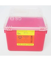 Multi-Use Nestable Sharps Collector with Funnel Clear Top BD305344-1-
