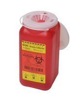 Multi-Use One Piece Sharps Collector, 1.4 Qt Hinge Cap with Petals BD305557-1-