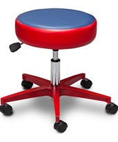 5-Leg Pneumatic Stool with Multi-Color Top CLI2155-M-4IR-