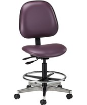 Lab Stool with Contour Seat and Backrest CLI2166-W