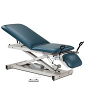 Open Base Power Exam Table with Adjustable Backrest, Footrest & Stirrups CLI80360