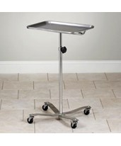 Mobile Heavy Base Stainless Steel Instrument Stand CLIMS-29