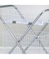 "6"" Wire Basket Set (Compatible with Clinton Folding Cart) CLITB-2062"