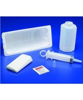 Dover Irrigation Tray with Piston Syringe with 100ml Sterile Saline - 20/Case COV68820