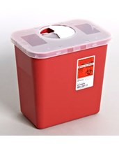 SharpSafety™ Sharps Container, Rotor Lid - 20/Cs COV8979MW