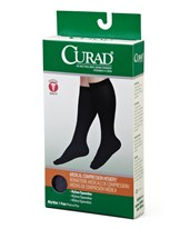 Black 15-20 mmHg Knee High Compression Hosiery CURMDS1701ABH-