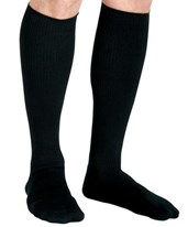 Black 15-20 mmHg Knee Length Cushioned Compression Socks CURMDS1714ABH-