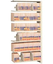 "4 Post Add-On Shelving 64-1/4"" High, 4 to 6 Tiers DAT641224-A4-"