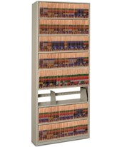 4Post-In-A-Box Letter-Size Shelving Starter Unit - 8 Openings DAT881236-S8P-