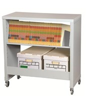 FileCart Letter/Legal with Utility Shelf and Laminate Top DATBFC-1L