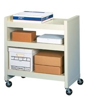 FileCart - 3-Shelf Utility Cart with End Panels DATBFC-3EP