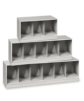 VuStak Letter Size Shelving with Straight Tiers DATD2412_D2412TB-