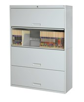 Stak-N-Lok™ Retractable Door Stackable Shelving - 4 Openings DATSN14LT4-NL-