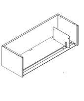 ThinStak Shelving - Letter Tier with movable plate divider DATSP24LT-11-