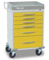 Rescue Series Isolation Medical Cart DETRC33669YEL-
