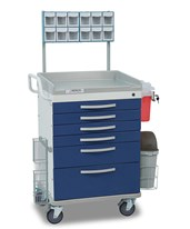Whisper Series Anesthesiology Medical Cart DETWC33669BLU-