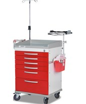 Whisper Series Emergency Room Medical Cart DETWC33669RED-