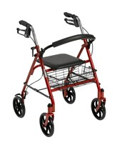 Steel 4-Wheel Rollator DRI10257RD-1-