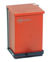 Baked Epoxy Red Step-On Waste Receptacle UMF1473R