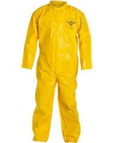 Yellow Tychem QC Coverall with Bound Seam and Zipper Front DUPQC120BYL-LG-