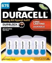 1.4V EasyTab 675 Hearing Aid Battery Packs DURDA675B6W-1-