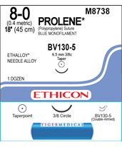 Prolene™ Polypropylene Taper Point Sutures, Double Arm - 12 per Box ETHM8738-