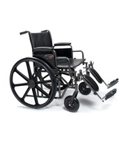 Traveler HD Wheelchair With Elevating Legrest & Detachable Full Arm GRA3G010350-