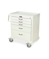 Classic Short Four Drawer Workstation Cart with Key Lock HAR6350-