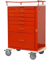 Classic Tall Six Drawer Emergency Cart HAR6400-