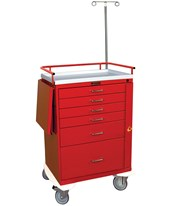 Classic Five Drawer Emergency Cart with Bottom Compartment HAR6403