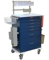 Classic Tall Six Drawer Deluxe Anesthesia Cart with Key Lock HAR6456