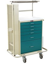 Classic Tall Six Drawer Difficult Airway Anesthesia Cart with Key Lock HAR6457