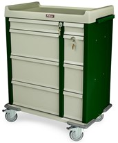 OptimAL Line All Aluminum 460 Punch Card Medication Cart HARAL460PC-